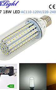 1pcs youoklight® E27 18W 1500lm 138-2835smd 3000K / 6000K בהירות גבוהה&45,000h חיים הארוך הוביל אור ac110-120v / 220-240V