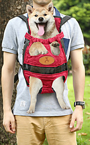 portatile doppio-spalla del cane elemento portante di corsa dell'animale domestico zaino (l) - fucsia