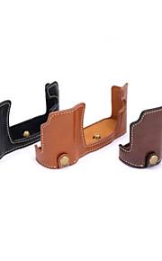 Dengpin PU Leather Half Camera Case Bag Cover Base for Olympus E-M10 EM10 (Assorted Colors)