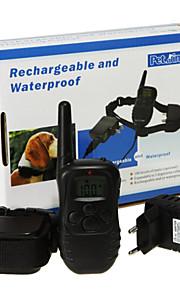 divertimento di collare Pets® remoto cane di animale domestico di addestramento ricaricabile con display LCD 100 livello di vibrazione di