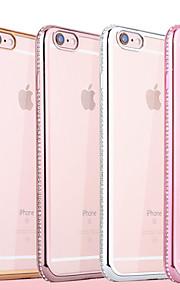diamant ramme elektroplet TPU med ryggen tilfældet for iphone6 / 6s (assorterede farver)