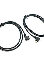 cy® mannelijke usb 2.0 naar links en rechts te draaien Micro-USB-kabel 1m