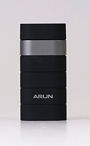 ARUN Y302A 5000mAh Power Bank with Dual USB Ports Design for Iphone and Others -- Black with Silver Color