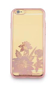 iphone6에 대한 다시 케이스와 꽃 네 개의 전기 도금 TPU 플러스 / 6S 플러스