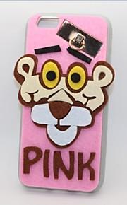 den lyserøde panter pc med en fluffy tilbage Case for iPhone 6plus / 6s plus (assorteret farve)