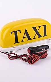 Iztoss 12v yellow Taxi Cab Top Waterproof led Lamp Magnetic Car Vehicle Indicator Lights with 3m power cords