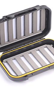 Mizugiwa Plastic Waterproof Fly Fishing Bait Dry Wet Flies Box Storage Tackle Case 22C Small Pocket Size 136x86x36mm