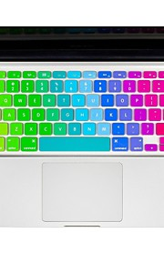 """arcobaleno pelle in silicone copertura della tastiera per macbook 13 """"/ 15"""" Air Pro retina"""