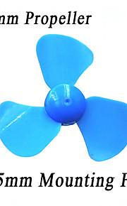 60 mm de hélice de tres palas, juguetes accesorios de plástico, la tecnología modelo de toma de molino de viento de bricolaje