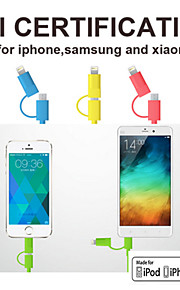 opso SC11 eple mfi godkjent USB-kabel 3.28ft (1m) for iphone 6/6-ere, 6 / 6s pluss, iPhone 5 / 5s / 5c, ipad data ladekabel
