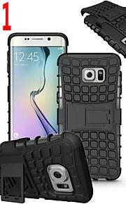 ibrido TPU duro antiurto 2 in 1 con coperchio funzione di supporto per Samsung Galaxy S4 / S5 / S6 / S6 bordo / bordo S6 + / S7 / bordo s7