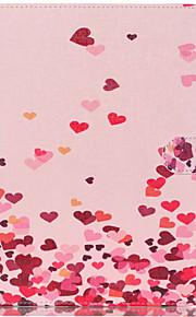 modelo de los corazones de color rosa de la PU funda protectora de cuero para la lengüeta 9.6 e T560