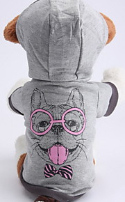 Dog Hoodies - XS / S / M / L - Spring/Fall - Gray - Waterproof / Fashion - Cotton