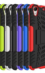 HTC 728 모듬 색상 스탠드 특별한 디자인 플라스틱 실리콘 케이스