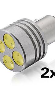 2 i 1 4W hvitt lys 1157 bay15d4 patch gjemte xenon lampe bil bremselys bremselys