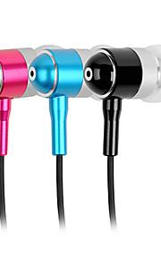 abingo a100i słuchawki stereo metalowe wkładki douszne z mikrofonem HiFi basowe