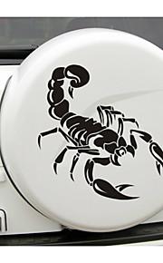 58*59CM Funny  The scorpion totem Car Sticker Car Window Wall Decal Car Styling (1pcs)