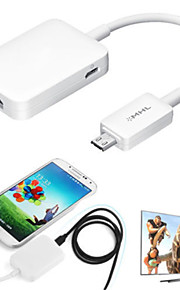 1080P MHL 2.0 Micro USB to HDMI HDTV Smart TV Adapter for Samsung Galaxy S3/S4/S5/Note2/Note3