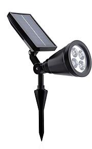 hry® 4leds 200lm hvit farge solenergi vegglamper i bakken lys justerbar og vanntett solar utendørs belysning