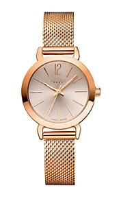 Julius mulheres da forma do relógio banda de aço inoxidável ja-732 da série ocasional relógio de pulso vestido dourado