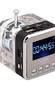 digital bärbar minihögtalare musik mp3 / 4 spelare micro sd / tf USB-disk högtalare FM-radio LCD-skärm