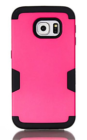 Hybrid Oil Leather 3 In 1 Tough Robot Style Cover Case For Samsung Galaxy S7edge Solid Shockproof Case For Galaxy S7edge