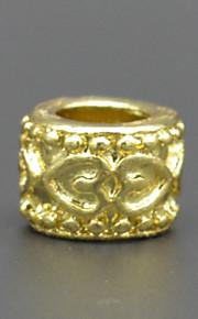 DIY hånd beaded halskæde tilbehør 18k vakuum plating guld dobbelt hjerteformet mønster lampwork perler hac0038