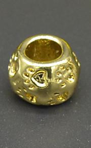 DIY beaded armbånd halskæde tilbehør 18 plating guld populære dyr lampwork perler hac0054 eneste mønster