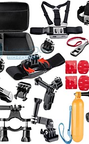 Gopro Accessories 28 in 1 Case Monopod Tripod Float Bobber Chest strap Gopro Hero 4 3 3+ 2 Xiaomi yi Camera Accessories