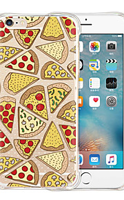 Pizza World Soft Transparent Silicone Back Case for iPhone 6/6S (Assorted Colors)
