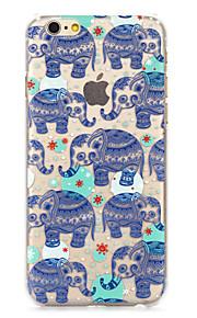 """mote kule elefanter malt mønster hard plast tilbake bukt for iphone6plus / 6splus 5,5 """""""