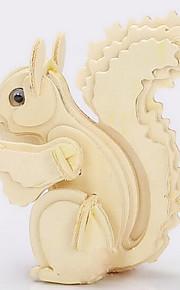 pequenas madeira esquilo puzzles 3D DIY brinquedos