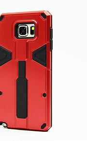 coperchio posteriore armatura resistente agli urti staffa dell'anello telescopico per Samsung Galaxy Note 5 ibrido PC + TPU protettore