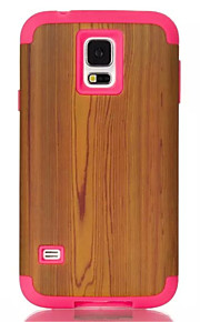Cartoon Soft Silicone Transparent Phone Case For Samsung Galaxy S5 Wood Grain Pattern Plastic Protective Cover