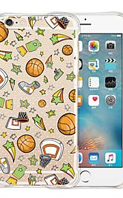 basquete silicone caso de volta transparente casa macia para o iPhone 6 / 6s (cores sortidas)