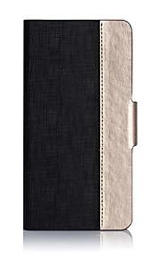 más nuevo soporte ranura para tarjetas de la cubierta del tirón de la PU de la cáscara del teléfono móvil de Huawei P9 colores variados