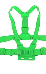 Elastic Adjustable Chest Strap Belt Mount for GoPro Hero 1 Hero 2 Hero 3 Hero 3+ Sports Camera Green