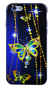 "Sapphire Butterfly IMD Printed TPU Soft Back Cover for iPhone 6Plus/6SPlus 5.5""(Assorted Colors)"