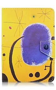 universales del cuero del patrón de Tablet PC de 7 pulgadas de graffiti el caso elegante magnético anti-polvo