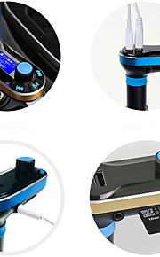 T66 Car MP3 Player Automotive Supplies Cigarette Lighter Dual USB Car Charger MP3