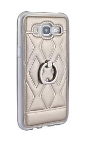 Custodia in pelle nuova per la galassia J5 titolare dello stand squillo del telefono j500f 360 rotazione posteriore protettivo guscio di