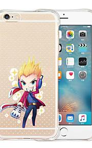 For iPhone 6 etui / iPhone 6 Plus etui Stødsikker / Transparent / Mønster Etui Bagcover Etui Tegneserie Blødt SilikoneiPhone 6s Plus/6