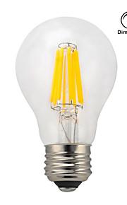 1 pieza kwb E26/E27 7W / 8W 8 COB 750 lm Blanco Cálido A60(A19) edison Cosecha Bombillas de Filamento LED AC 100-240 V