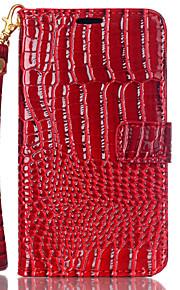 cocodrilo con la mano la cuerda alrededor de la funda cartera abierta para Nokia Lumia N550 (colores surtidos)