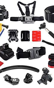 GoPro Accessories 27 in 1 Helmet Harness Chest Belt Mount Strap Monopod For GoPro Hero3+4 SJCAM Camera Accessories