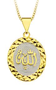18K forgyldt allah prismatisk vedhæng særlige design smykker til kvinder / mænd gave engros p30140