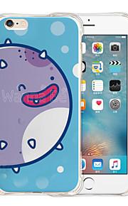 mundo animação silicone caso de volta transparente macia para o iPhone 6 / 6s (cores sortidas)