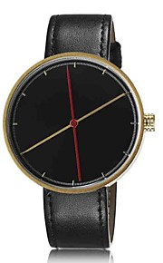 Unisex Fashion Watch The New Minimalist Fashion Plate Leather Belt Quartz Watch Men Women Genera (Assorted Colors)