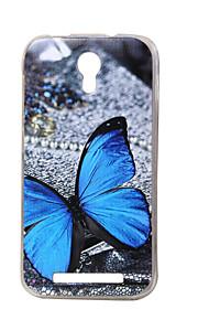 mariposa azul nueva TPU suave cubierta de la caja de valencia Doogee 2 Y100 teléfonos móviles fundas estuches