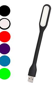 mlsled® kreativ usb 80lm hvitt lys ledet liten bordlampe husholdning nattlys dataskjerm lys (assorterte farger)